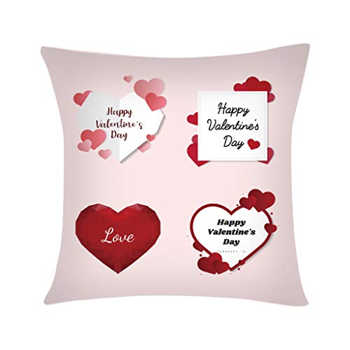 scamper Pillowcase Throw Pillow Covers Case Polyester Sofa Car Cushion Cover Home Decor Valentine's Day Love Series 45X45cm