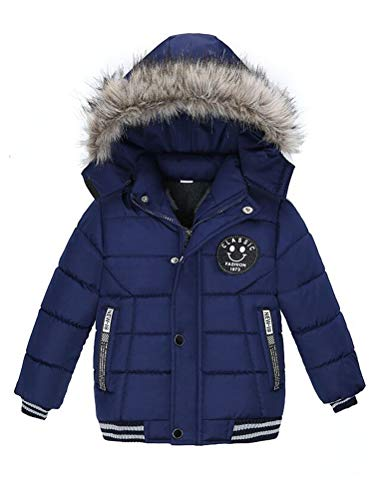 Odziezet jas met capuchon voor jongens, waterdichte winterjas met capuchon van 0-5 jaar