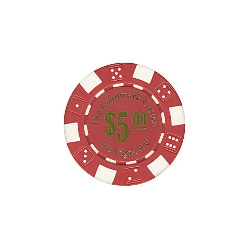Trademark Poker Landmark Casino 100 Poker Chips (5-Piece), (Landmark Casino Chip)