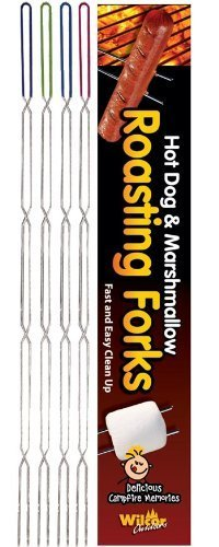 Campfire Hot Dog & Marshmallow Roasting Forks Sticks 8 Pack by Wilcor
