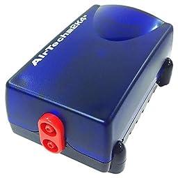 Penn Plax Aquarium Air Pump Ultra Quiet Compact Dual Air Outlets Up to 65 Gallon Tank