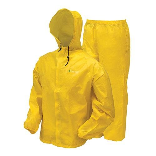 frogg toggs Men's Waterproof Ultra-Lite2 Suit, Bright Yellow, L