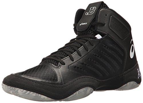 Asics Mens Jb Elite Iii Wrestling Shoe Nero / Bianco