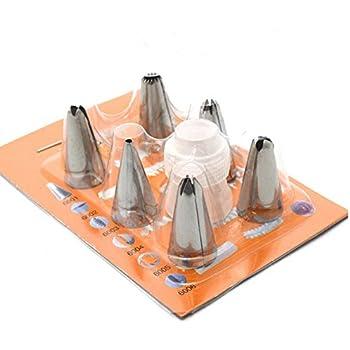 Amazon.com: Katoot DIY Rose Petal Icing Piping Nozzles Set Stainless Steel Cake Cream Decorating