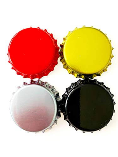 (Beer Bottle Crown Caps Oxygen Absorbing for HomeBrew, 4 Colors (200 Pack))