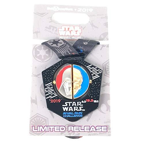 Medal Disney Pin - Disney Star Wars Rival Run Challenge 2019 Darth Vader Luke Skywalker Finishers Medal Pin