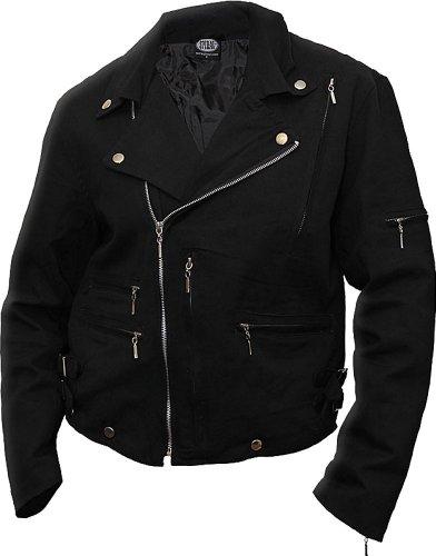 Spiral - Mens - Metal Streetwear - Lined Biker Jacket Black - XL