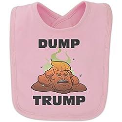 Dump Donald Trump with Poop Baby Bib - Pink