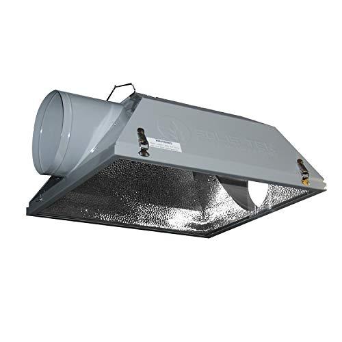 SolisTek 8 inch Air Cooled Hood Reflector Hydroponics Light Grow Hydroponic w/Glass Cover