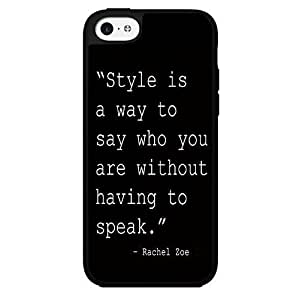 Black and White Fashion Icon Style Quote Hard Snap on Phone Case (iPhone 5c) by heywan