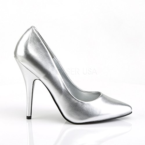 matt 420 PleaserUSA High Seduce Classic Pumps Court silver Shoes Heel 0HzR0q