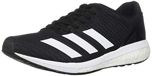 adidas Men's Adizero Boston 8 Running Shoe, Black/White/Grey, 11 M US