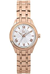 Guess Collection Y03005L3 32mm Gold Plated Stainless Steel Case Rose Gold Gold Plated Stainless Steel Mineral Women's Watch