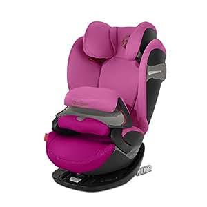 Cybex - Silla de coche grupo 1/2/3 Pallas S-Fix, silla de coche 2 en 1 para niños, para coches con y sin ISOFIX, 9-36 kg, desde los 9 meses hasta los 12 años aprox.Fancy Pink