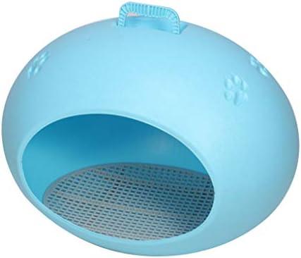 ペットベット ペットネスト四季の一般的なテディプードル小さなキャットケンネルオーバルエッグ犬舎プラスチック犬小屋を洗うために無料 ベッド・ソファ SHANCL (Color : Blue)