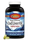 Carlson Lightly Lemon Cod Liver Oil 1000mg, 300 Softgels
