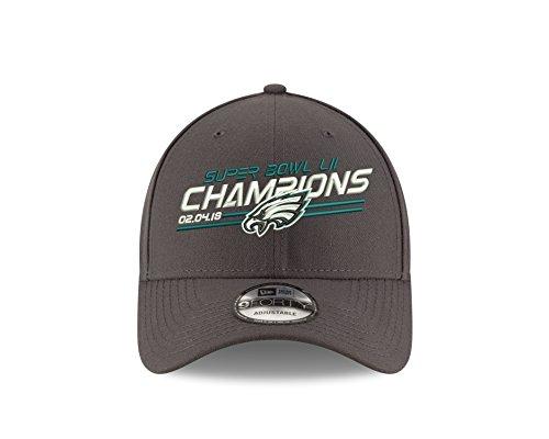 Super Bowl Champions Cap (New Era Philadelphia Eagles Super Bowl Lii Champions 9Forty Adjustable Hat –Graphite)