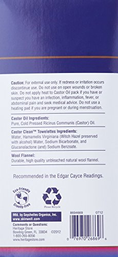 Heritage Store Castor Oil Pack Kit by Heritage Store (Image #1)
