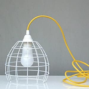 White wire cage lampshade: Amazon.co.uk: Kitchen & Home