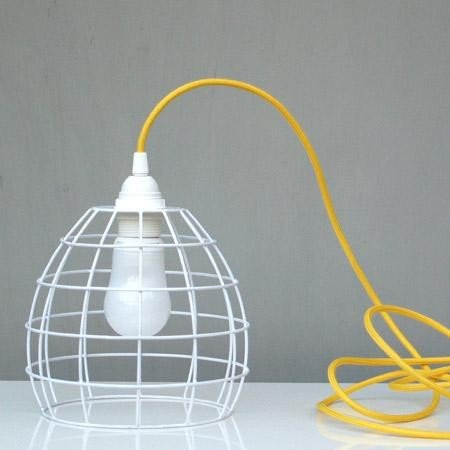 White wire cage lampshade amazon kitchen home white wire cage lampshade greentooth Choice Image