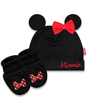 Minnie Mouse Cap and Booties Set