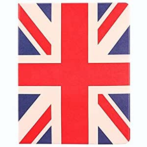 HP-Patrón de la bandera nacional de Reino Unido de la PU Leather Case cuerpo completo con soporte para iPad 2/3/4