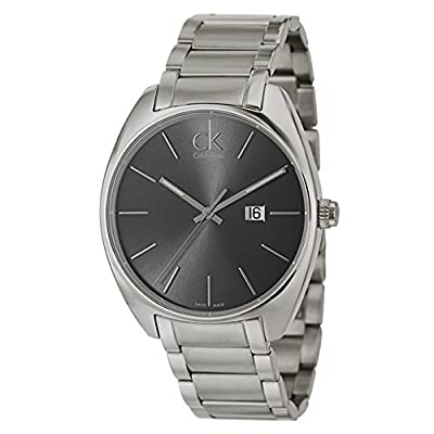 Calvin Klein Men's K2F21161 Exchange Analog Display Swiss Quartz Silver Watch