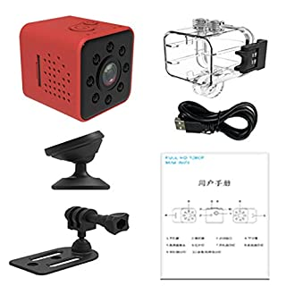 30mm 1.2'' Micro Camera,SQ23 HD Camcorder Night Vision 1080P Sport DV Camera Infrared Car DVR Motion Detection - Red