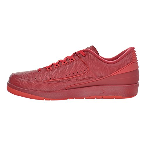 Nike Men's Air Jordan 2 Retro Low Basketball Shoes Gym Red, University Red-hypr Trq