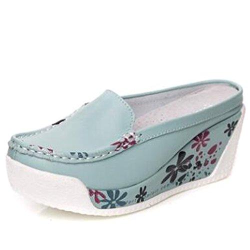 Femme bleu Compensées clair Chaussures Solshine 17wxzn6qR