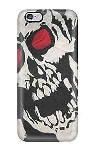 New Tpu Hard Case Premium Iphone 6 Plus Skin Case Cover(skull)