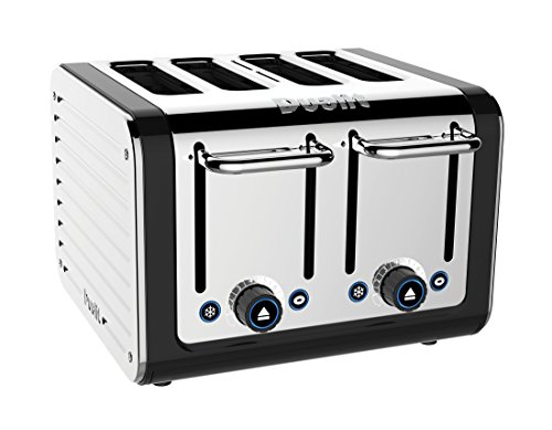 Dualit 46555 4-Slice Design Series Toaster, Black and Steel by Dualit