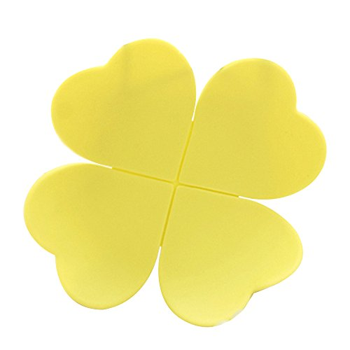 Ieasycan 10pcs/lot Fashion Colorful 3D Flower Clover Pad Coffee Coaster Flower Cup Mat Kitchen Table - Prizm India
