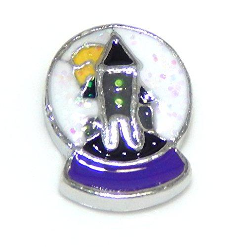 Snowglobe Charm (Pro Jewelry Holiday Assortment -Pick Your Favorite- Mini Charm for Pendant Lockets (Snowglobe))