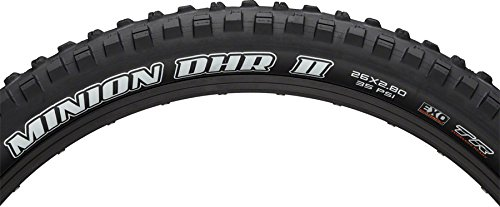 Maxxis Minion DHR II 26 x 2.8 Tire 60tpi Dual Compound EXO Casing Tubeless by Maxxis