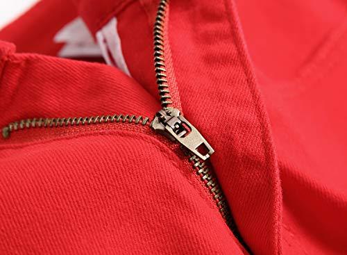 Strappati Per Distrutti Jeans Distressed Fori Skinny Red Uomo Con zpwqCBCH