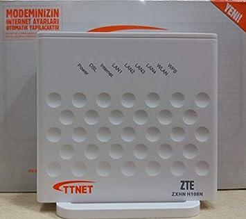 Zte Zxhn H108n 4 Port 300 Mbps Kablosuz Adsl2+ Modem: Amazon com tr