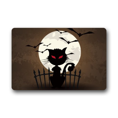 Halloween Doormats/Decorations/ Bat Moon Scary Cat Durable Machine-washable Indoor/outdoor Door Mat 23.6
