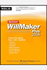 Quicken Willmaker Plus 2008 Edition: Estate Planning Essentials (Book with CD-ROM) Paperback