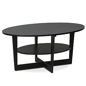 Amazoncom FURINNO Furinno JAYA WN Round Coffee Table - Furinno coffee table