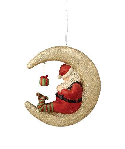 Bethany Lowe Santa Sleeping on The Moon Christmas Tree Ornament