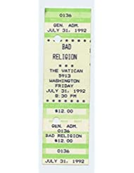 Bad Religion 1992 Jul 31 The Vatican Houston Unused Ticket
