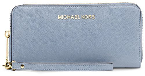 Michael Kors Jet Set Travel Zip Around Continental Saffiano Leather Wallet Pale blue 32S5GTVE9L by Michael Michael Kors (Image #1)