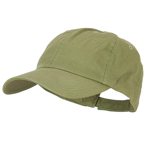 Green Low Profile Cap - MG Low Profile Dyed Cotton Twill Cap - Cactus OSFM