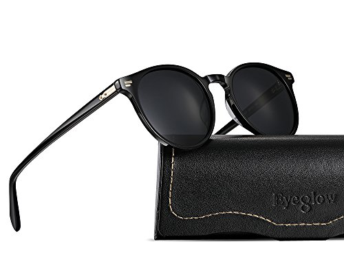 EyeGlow Sunglasses Men Vintage Sunglasses Women Polarized UV Protection (Black vs grey, As - Sunglasses Protection Uv Polarized Vs