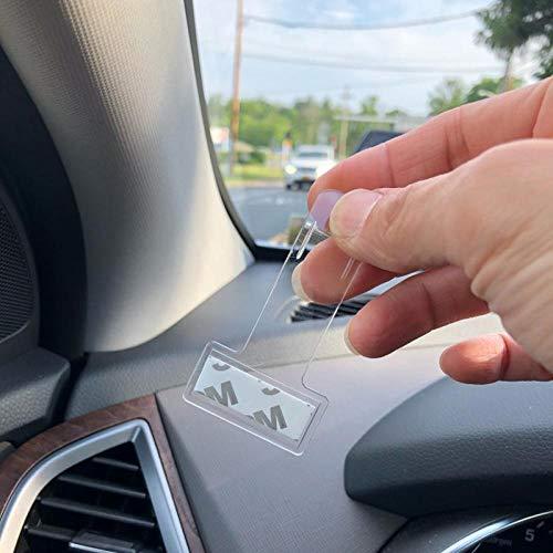 New 2pc Car Parking Ticket Permit Holder Clip Sticker Windscreen Window Kit UK
