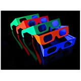 Rob's Super Happy Fun Store Fireworks Diffraction Glasses - 50 Pair (40 Neon Frames/10 Rainbow Hearts)