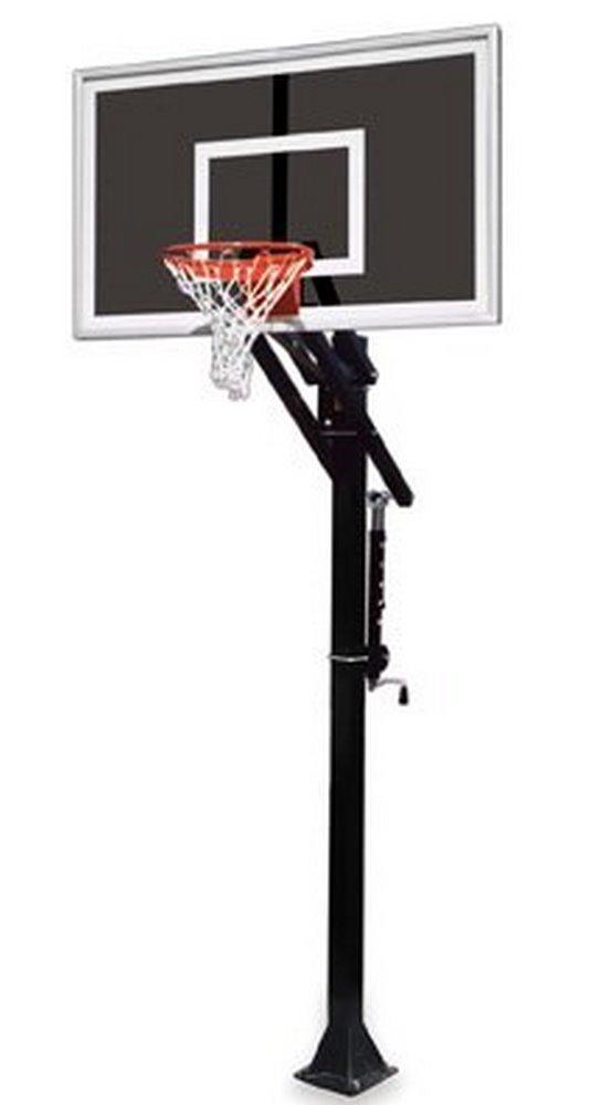 最初チームJam eclipse-bp steel-smokedガラスin ground調整可能バスケットボールsystem44、レンガレッド B01HC0DDRM