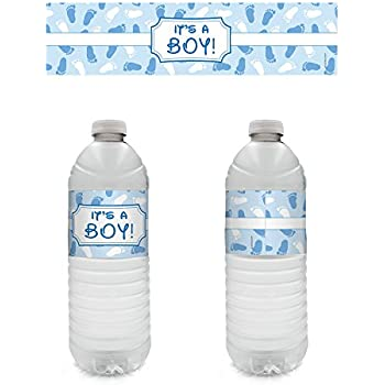 Amazon 30 Personalized Water Bottle Labels Baby Shower Party