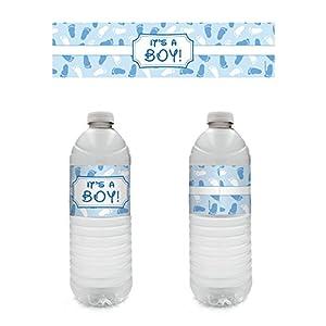 Amazon.com: It's A Boy Baby Shower Party Water Bottle Sticker ...
